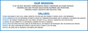 Boiler Supply - Mission and Values